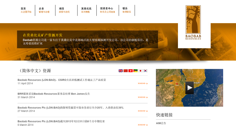 multilanguage ir website